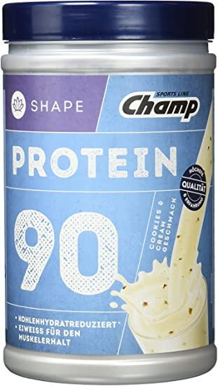 Lokal : Kaufland Gelnhausen Champ Shape Protein 90 Shake, 360 Gramm Dose, Vanille oder Vanille Cookies, MHD JANUAR 2022