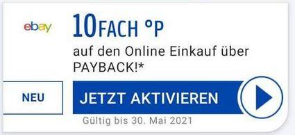 (evtl. personalisiert) 10 Fach Payback Punkte bei Ebay
