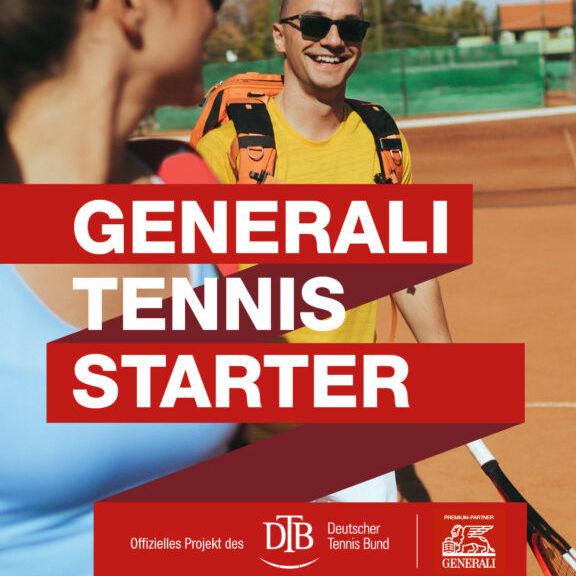 Generali Tennis Starter: 2x kostenlos Tennis spielen bis 31.10.21 in bundesweiten Partner-Clubs