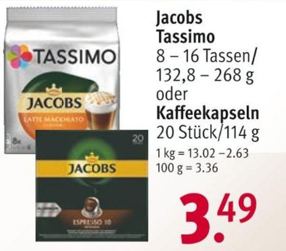 Jacobs Kaffeekapseln 20 Stk. für 3,14€ (10% Coupon erforderlich über die Rossmann App)