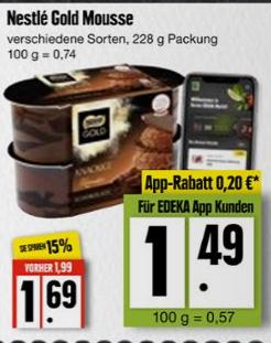 *Edeka Nord Genuss+* Nestlé Gold Mousse