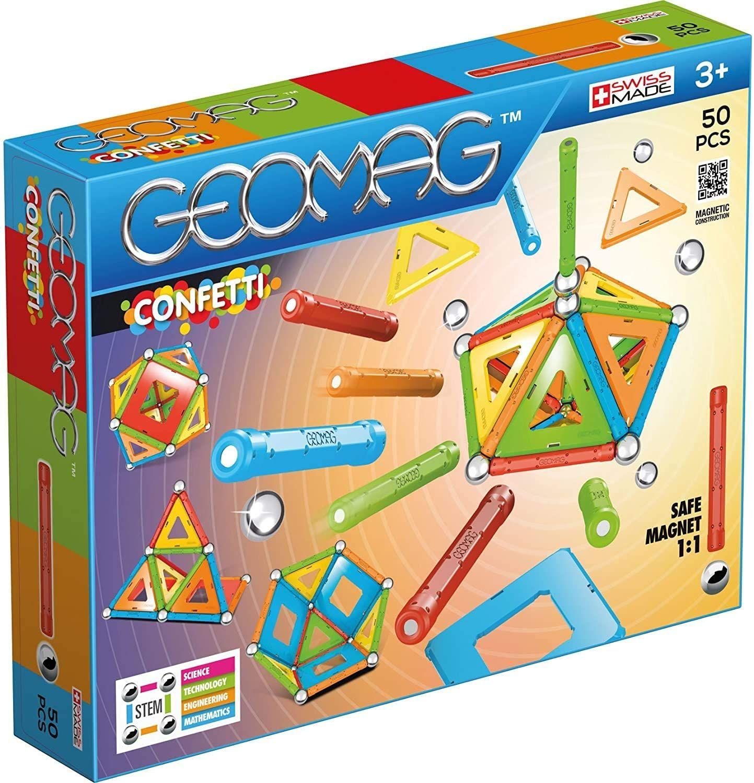 Geomag, Classic Confetti, 352, Magnetkonstruktionen und Lernspiele, 50-teilig [Amazon Prime & Galaxus]