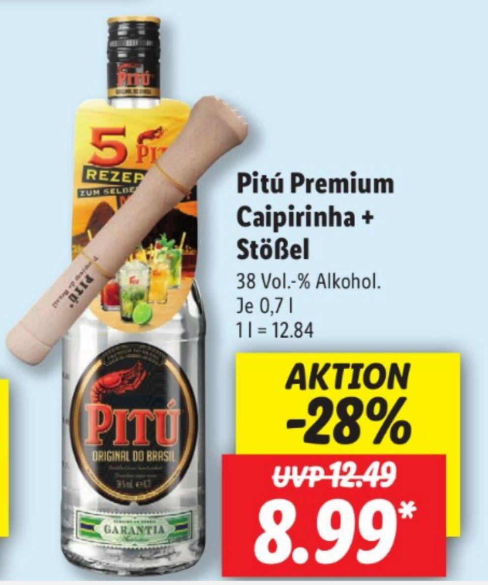 Pitú Premium Caipirinha 38% 0,7 l plus Stößel für 8,99€ statt 12,49€ UND Underberg Mini 49% 12x 20 ml für 6,99€ statt 8,99€ 10.05 Lidl