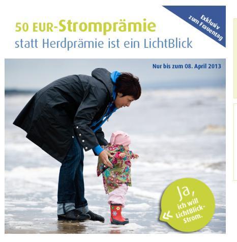 50 Euro auf Stromrechnung bei Lichtblick