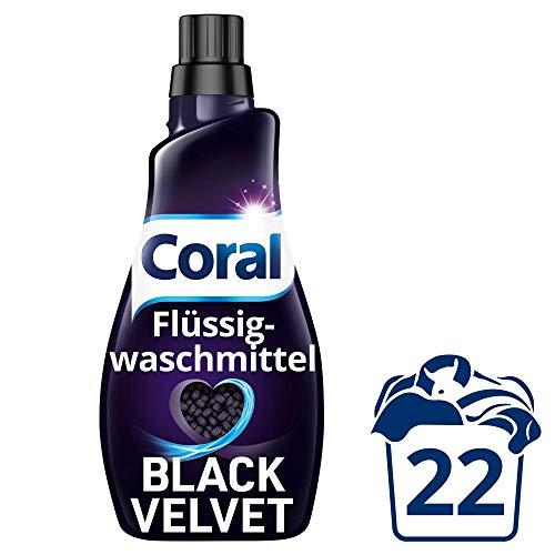 Amazon Prime: Coral Black Velvet, 1,1 Liter Flasche , 22 Waschladungen für intensives Schwarz - Schutz vor Ausbleichen, aktuell Bestpreis