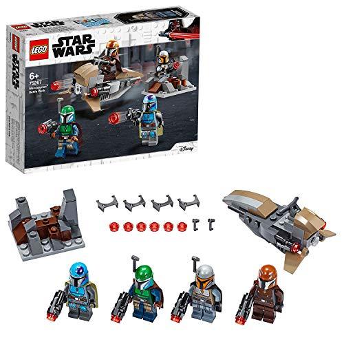 [amazon | prime] LEGO 75267 Star Wars Mandalorianer Battle Pack Set mit 4 Minifiguren, Speeder-Bike und Verteidigungsfestung
