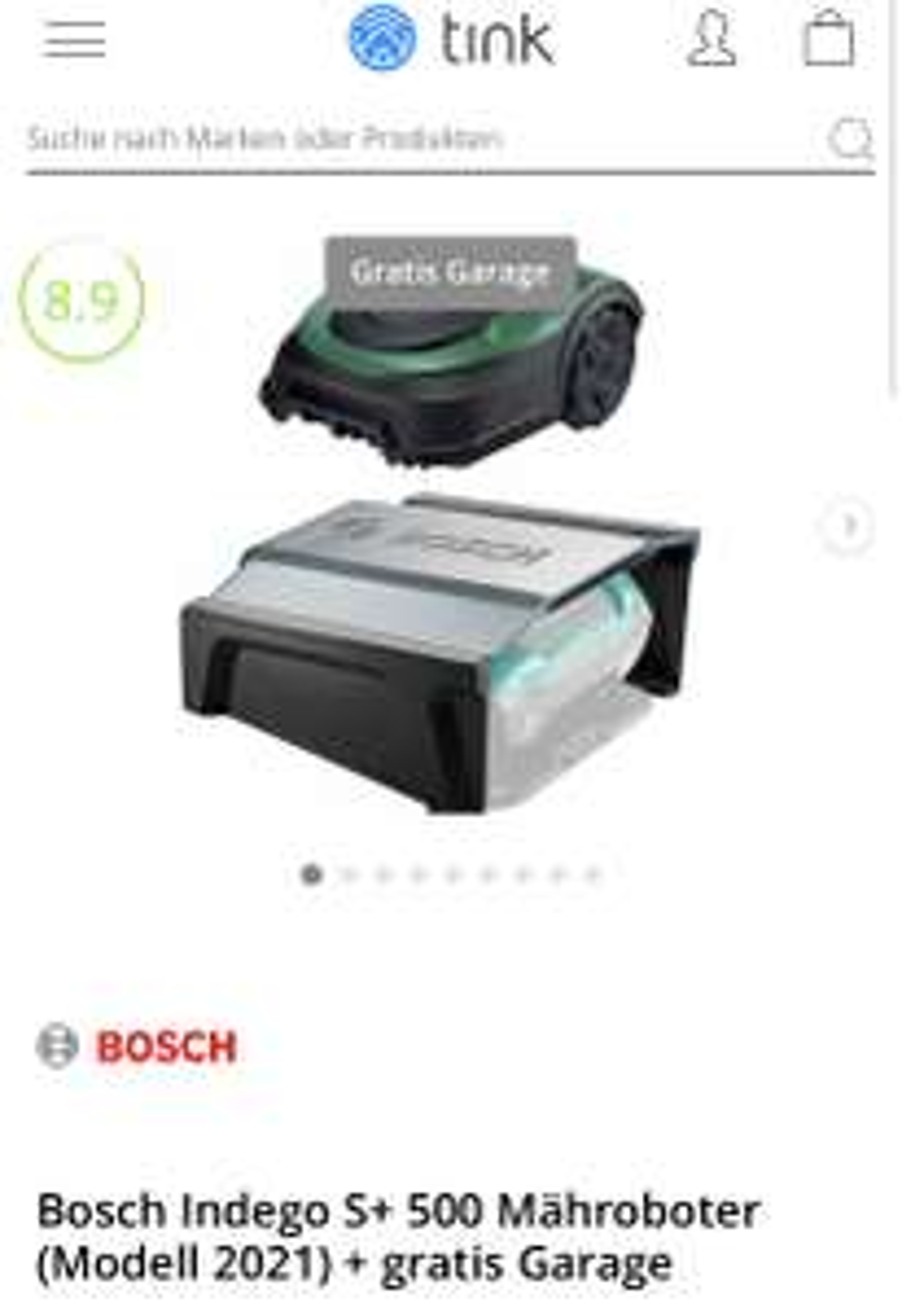 Bosch Indego S+ 500 Mähroboter (Modell 2021) + gratis Garage