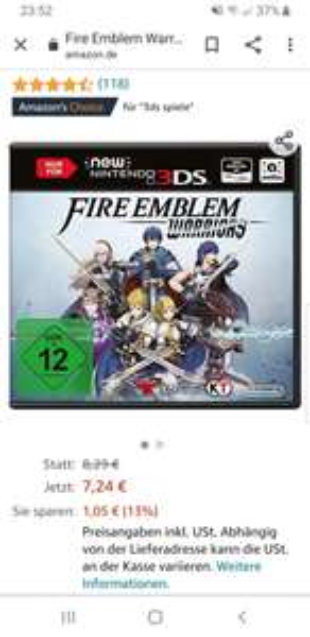 (Prime) Fire Emblem Warriors [nur für New 3DS]