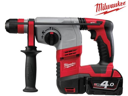 Milwaukee HD18HX-402C Bohrhammer inkl. 2 x 4,0 Ah Akkus, Ladegerät und Koffer