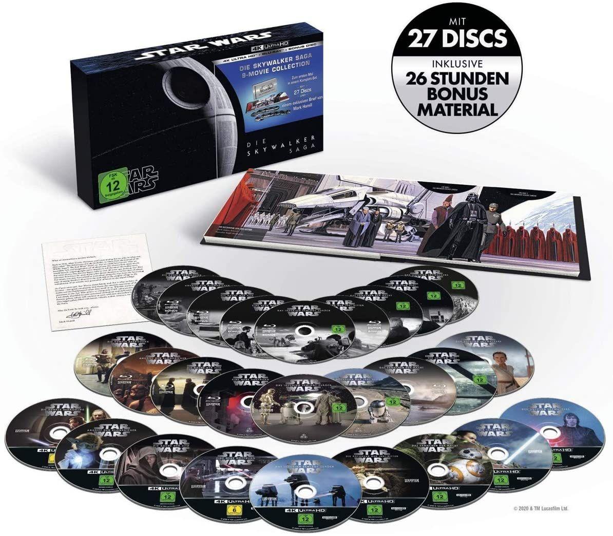 Star Wars 1 - 9 - Die Skywalker Saga 4K Ultra HD [Blu-ray] [Amazon]