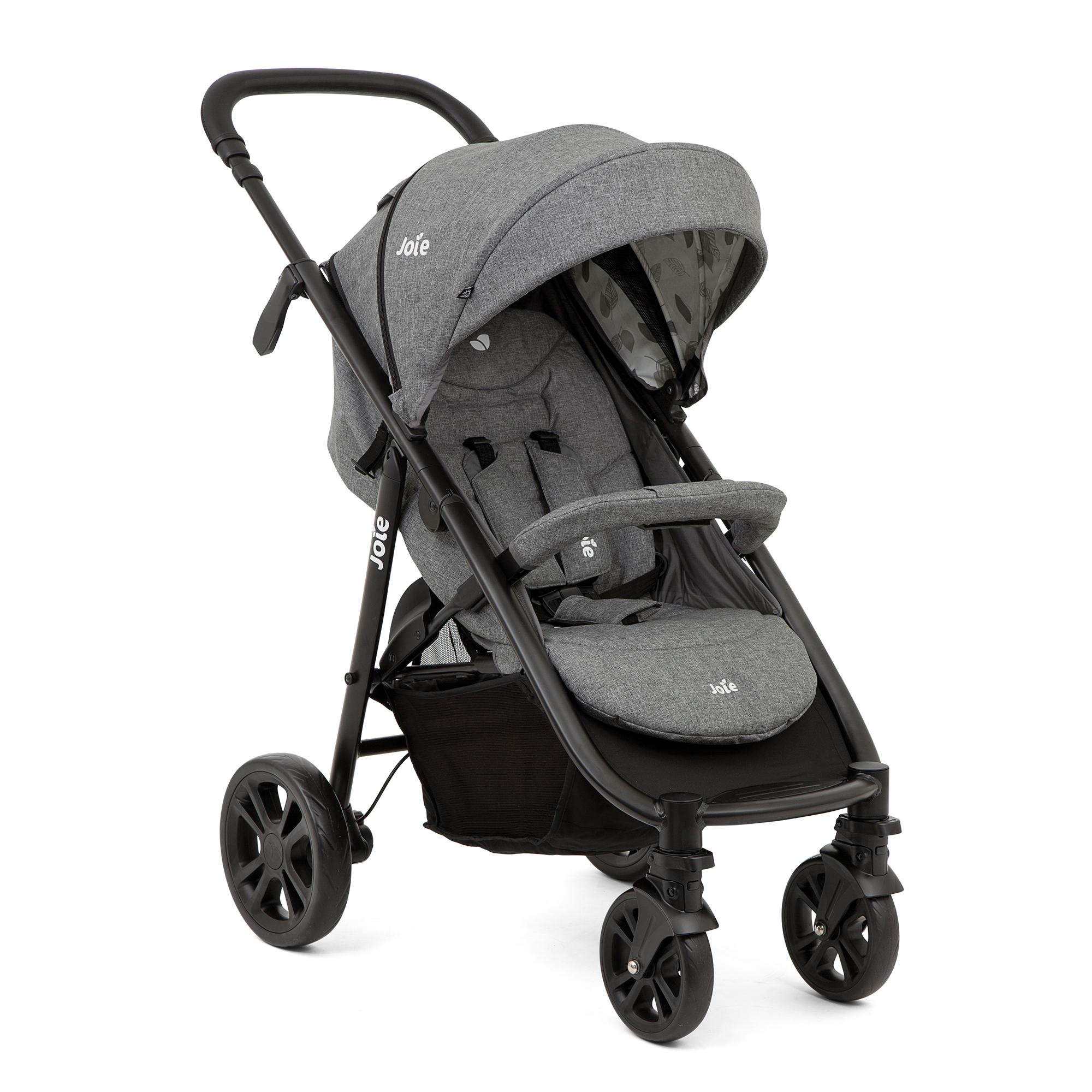 (Babyone) Joie Litetrax 4 DLX, Grey Flower Buggy / Kinderwagen (neu mit höhenverstellbarem Griff)