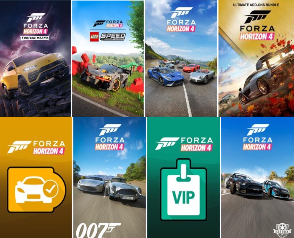 Bundle Forza Horizon 4 – Ultimate Add Ons für Xbox One - Series X|S & PC Windows 10 (Iceland Store)