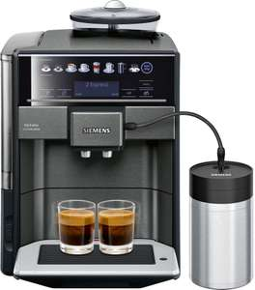 Siemens EQ.6 plus extraKlasse Kaffeevollautomat TE657F09DE dunkler Edelstahl