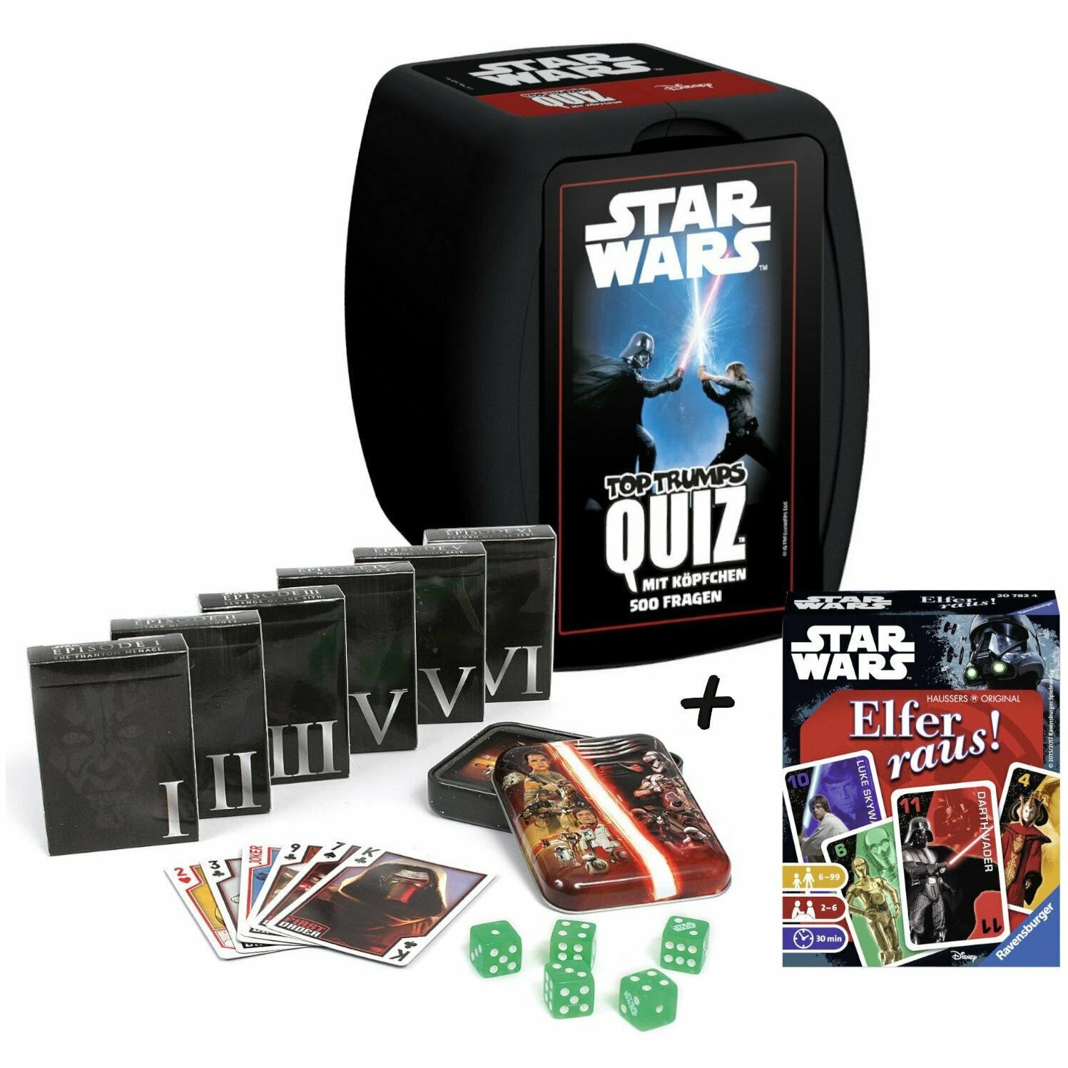 May the 4th be with you...Das große StarWars Spielebundle Quiz+Spielkarten+Elfer raus