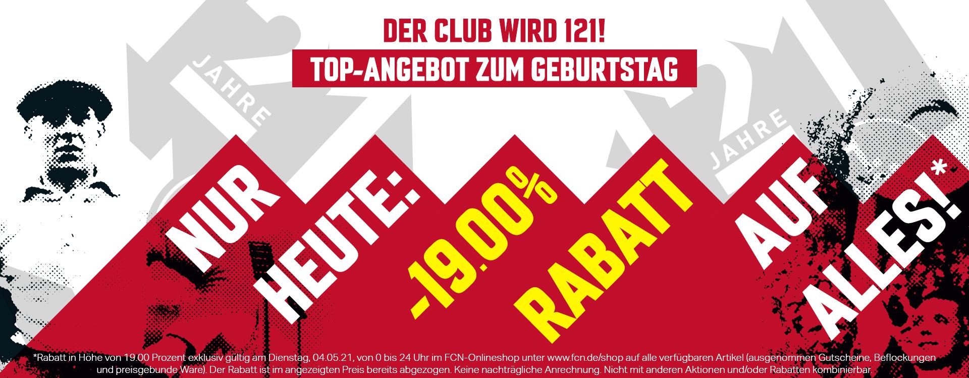 19% im FCN Fanshop