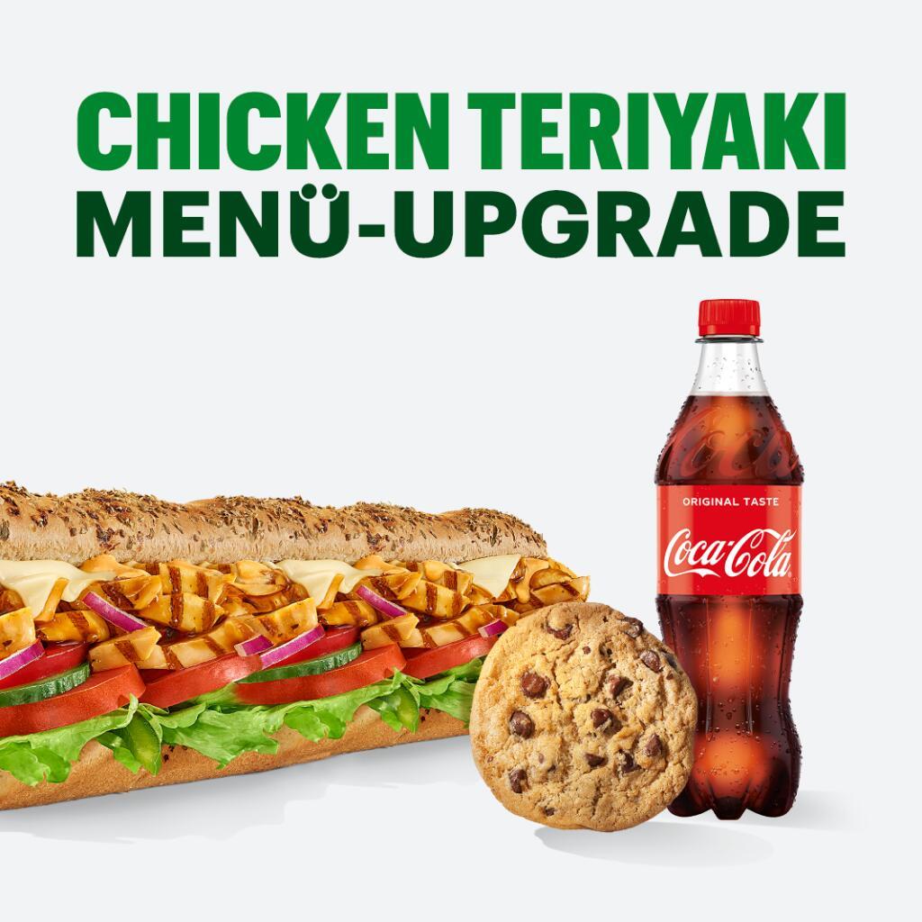 Neue Deals bei Subway (z.B Chicken Teriyaki Menü-Upgrade For Free)