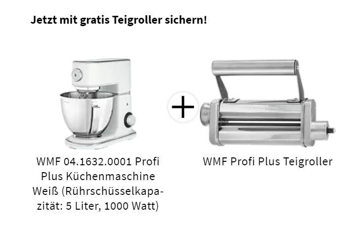 WMF Profi Plus Küchenmaschine Weiß mit gratis Teigroller