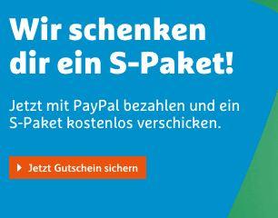 Hermes + PayPal das erste S-Paket kostenlos verschicken