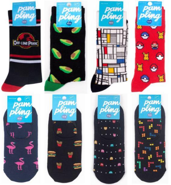 Pampling - 4 Paar Socken für 8€ + 3,90€ Versand + 20% extra