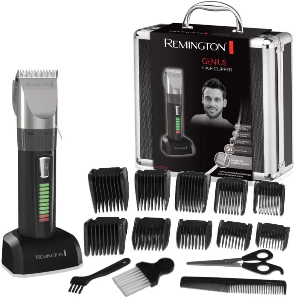 [Amazon Prime Blitzangebot] Remington HC5810 Haarschneidemaschine selbstschärfende Keramikklingen im Alukoffer