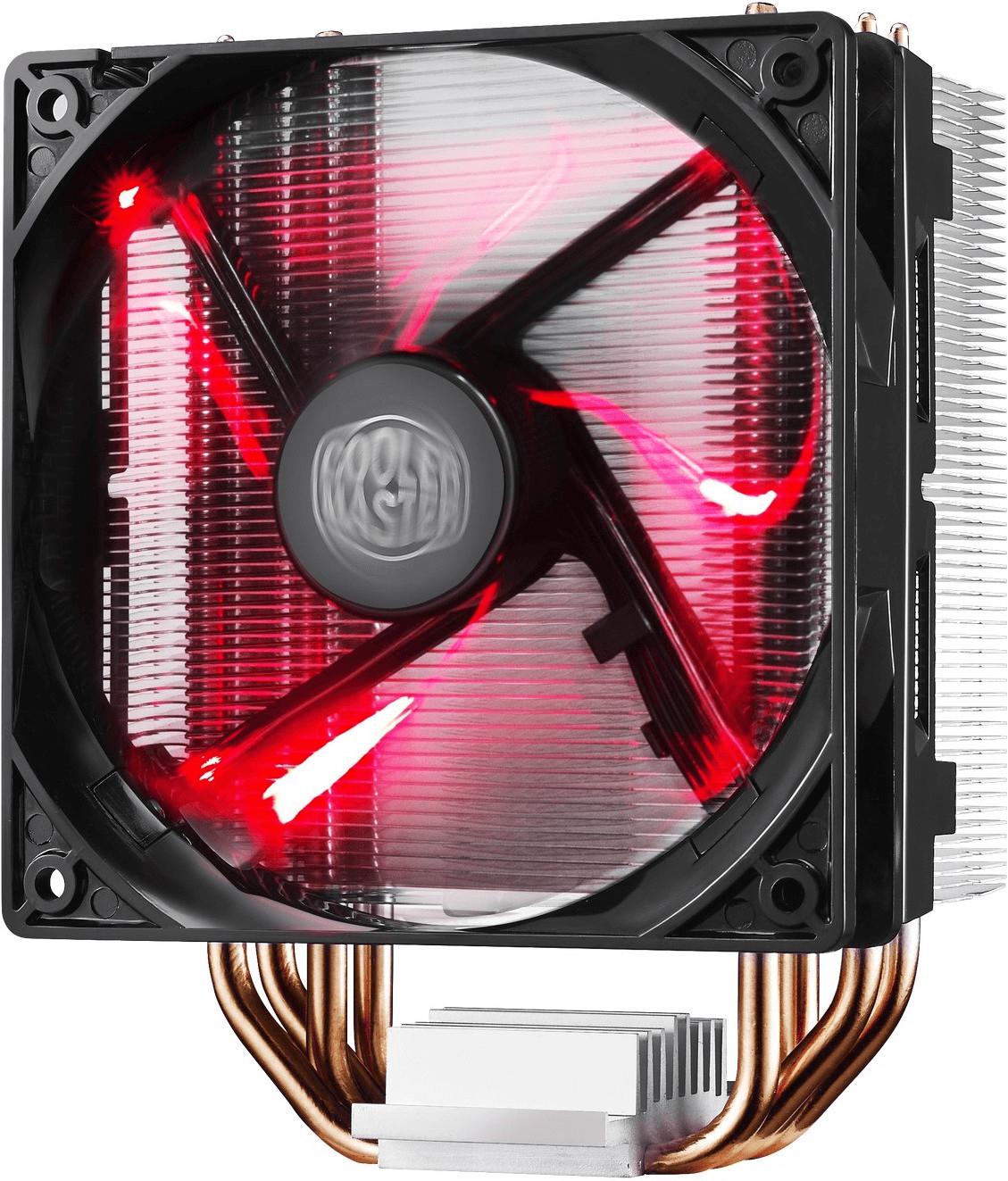 Cooler Master Hyper 212 LED CPU-Kühler (für Intel Sockel 1200 oder 1151, nicht für AM4, 4 Heatpipes, 120mm PWM-Lüfter, bis 150W TDP)