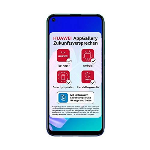 [Amazon] HUAWEI P40 lite E Smartphone, 64 GB, Aurora Blue, 4GB RAM + 5€ Amazon Gutschein