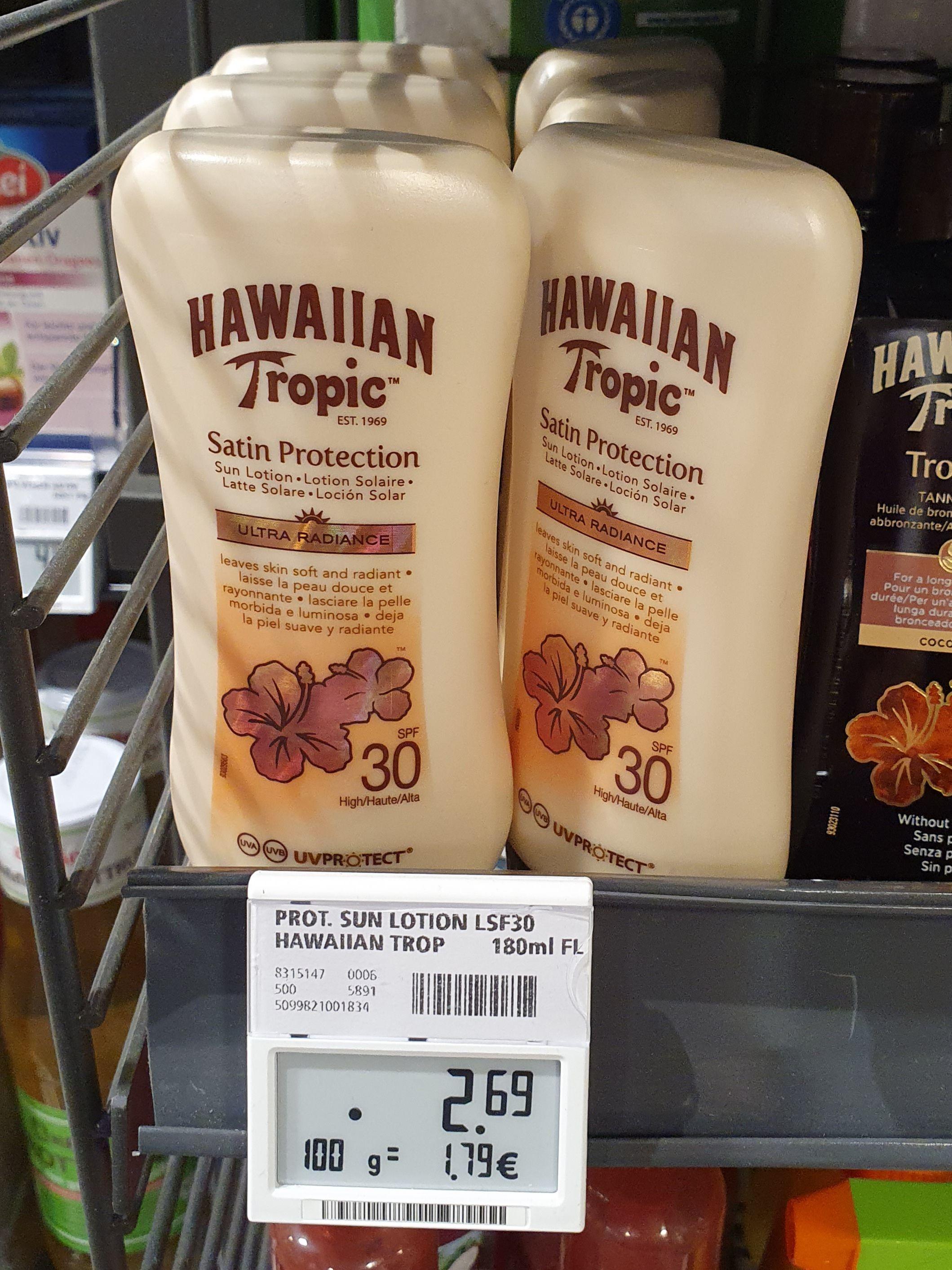 [Berlin] REWE Hawaiian Tropic Satin Protection Sonnenmilch 180 ml LSF 30 Sonnencreme