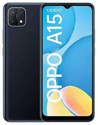 OPPO A15 Smartphone, 6,5 Zoll HD+ Display, 4.230 mAh Akku + 10W Schnellladen, 13 MP Dreifach-Kamera, Dual-SIM + mSD ,