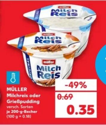 (Kaufland) Müller Milchreis/Grießpudding, Versch. Sorten, 200g Becher