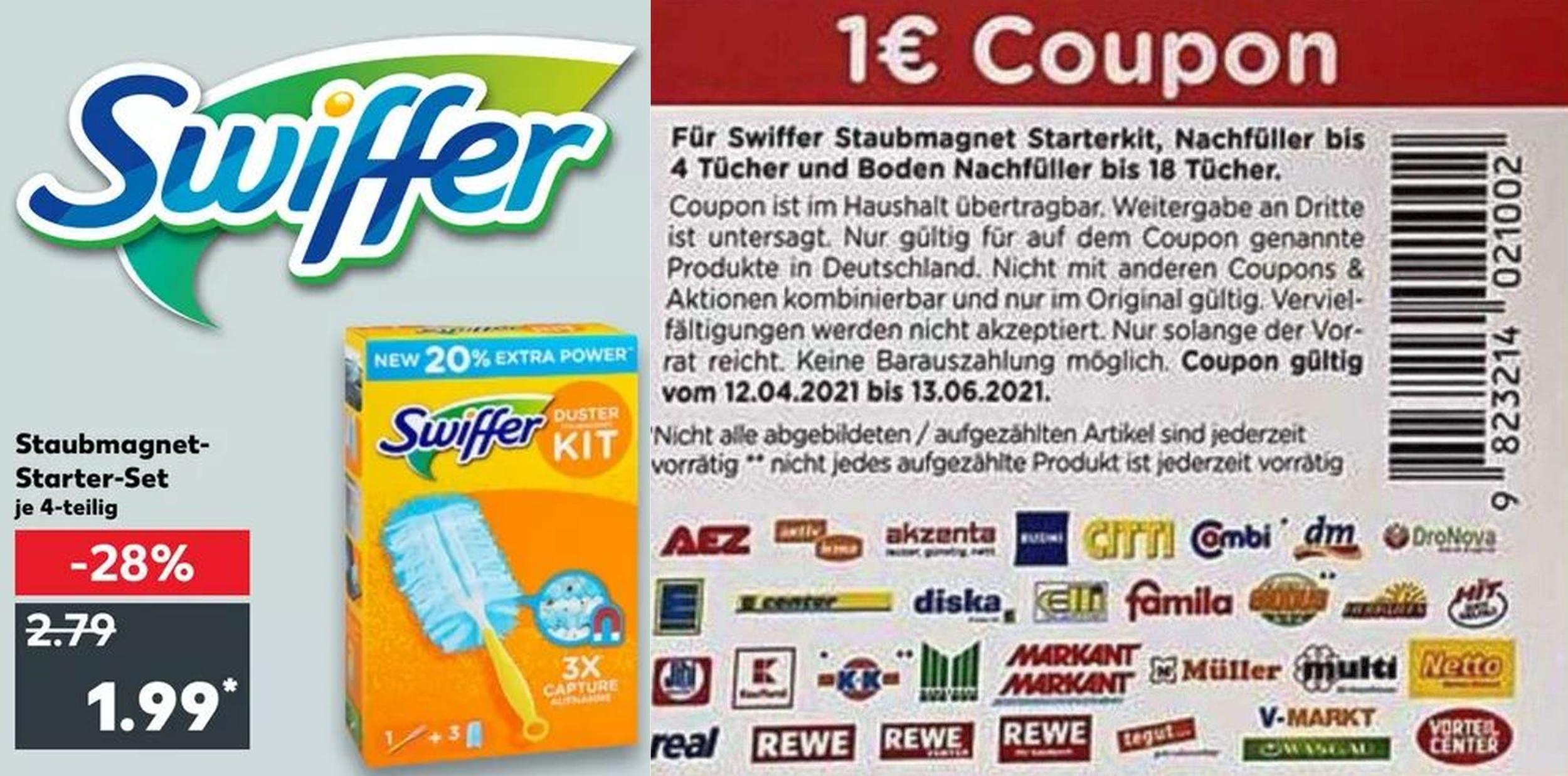 Swiffer Staubmagnet Starter-Kit für 0,99€ (Angebot+Coupon) [Kaufland ab 14.05.21]