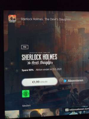 Sherlock Holmes: The Devil's Daughter im PS Store