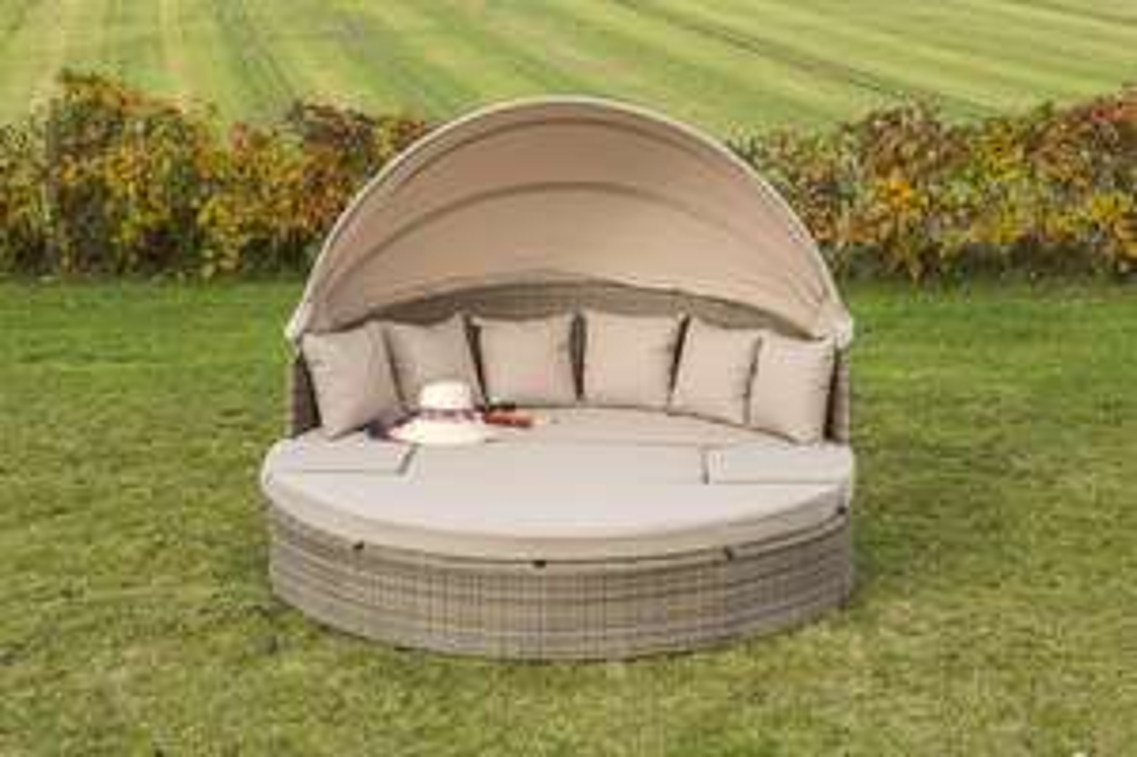 Merxx, Riva Relaxinsel, Sitzinsel, Lounge Set, 8 mm Flachband und Kissen, 180cm