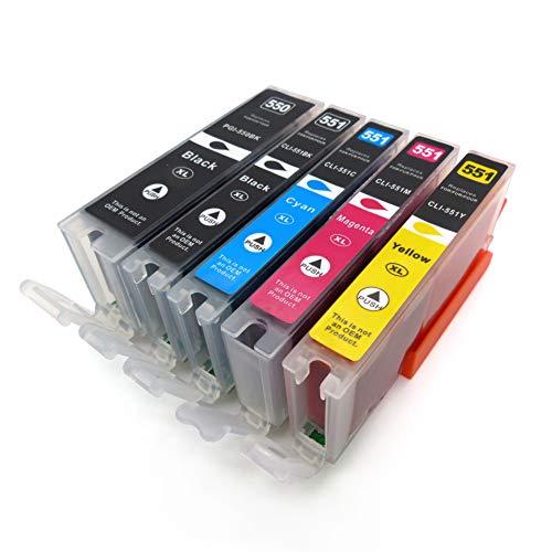 [Amazon / Starlet24] Tintenpatronen kompatibel für Canon PGI-550 CLI-551 MX925 iX6850