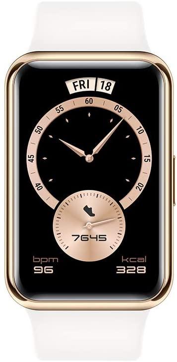 "[Amazon oder Otto] HUAWEI Watch FIT Elegant Edition Smartwatch, 1,64"" AMOLED-Display, bis 10 Tage Akku, SpO2, 96 Trainingsmodi, GPS, 5 ATM"