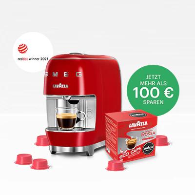A Modo Mio SMEG Kaffeekapsel Maschine im Angebot (Über 100€ sparen)