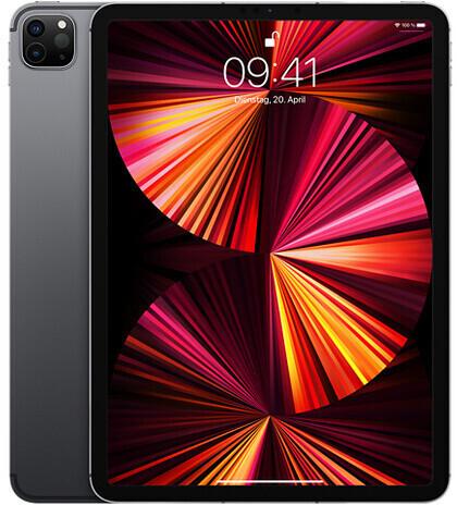 """Apple iPad Pro 11"""" 5G 128GB (2021) für 25€ ZZ mit o2 Datentarifen - Data M (20GB LTE 5G, mtl. 49,99€) od. Data L (60GB LTE 5G, mtl. 54,99€)"""