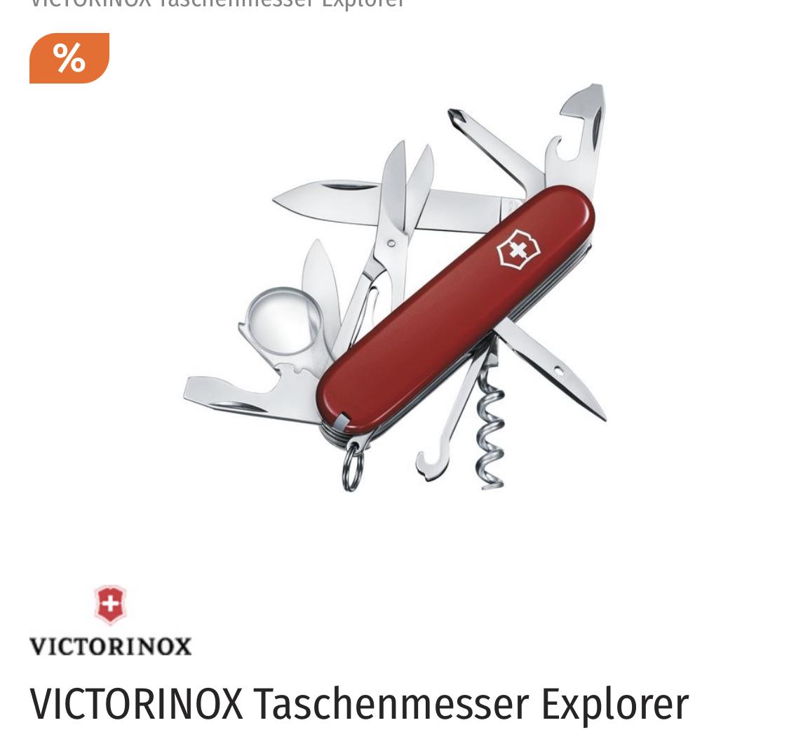 (Müller Abholung oder + Versand) 20% Rabatt auf Taschenmesser, z.B. Victorinox Taschenmesser Explorer