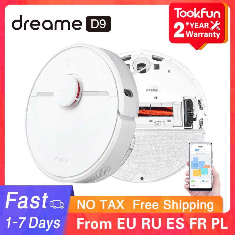 Dreame D9: Saugroboter mit Wischfunktion - Versand aus EU (LDS Scanner, 3000Pa Leistung, 150min Akku, Zonenreinigung, 570ml Behälter)
