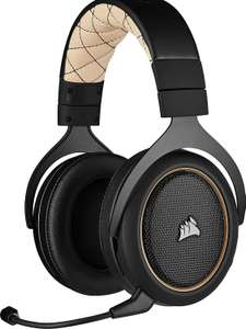 Corsair HS70 Pro Wireless Over-Ear Gaming Headset (7.1 Surround, abnehmbares Mikrofon, 12 m Reichw., 50 mm Treiber, Playstation & PC) Creme