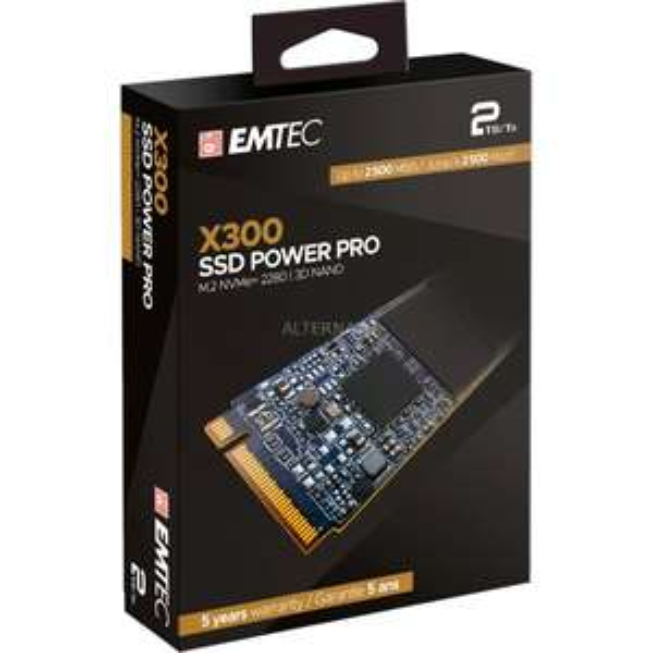 [Alternate] Emtec X300 M.2 SSD Power Pro 2 TB (M.2 2280, NVMe PCIe Gen 3.0 x4) | 3D-NAND
