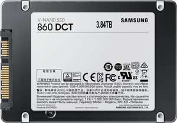 """[Vorbestellung] Samsung SSD 860 DCT 3.84TB (2.5"""", SATA, TLC, 550/520MB/s, 4GB Cache, 1.396PB TBW)"""