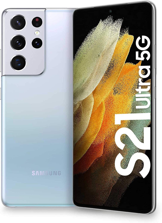 """Samsung Galaxy S21 Ultra 5G 6,8"""" WQHD+ AMOLED Dual-SIM 12/256GB (755K AnTuTu, Exynos 2100, 5.000 mAh, 108 MP Quad-Cam, USB-C, NFC, aptX)"""