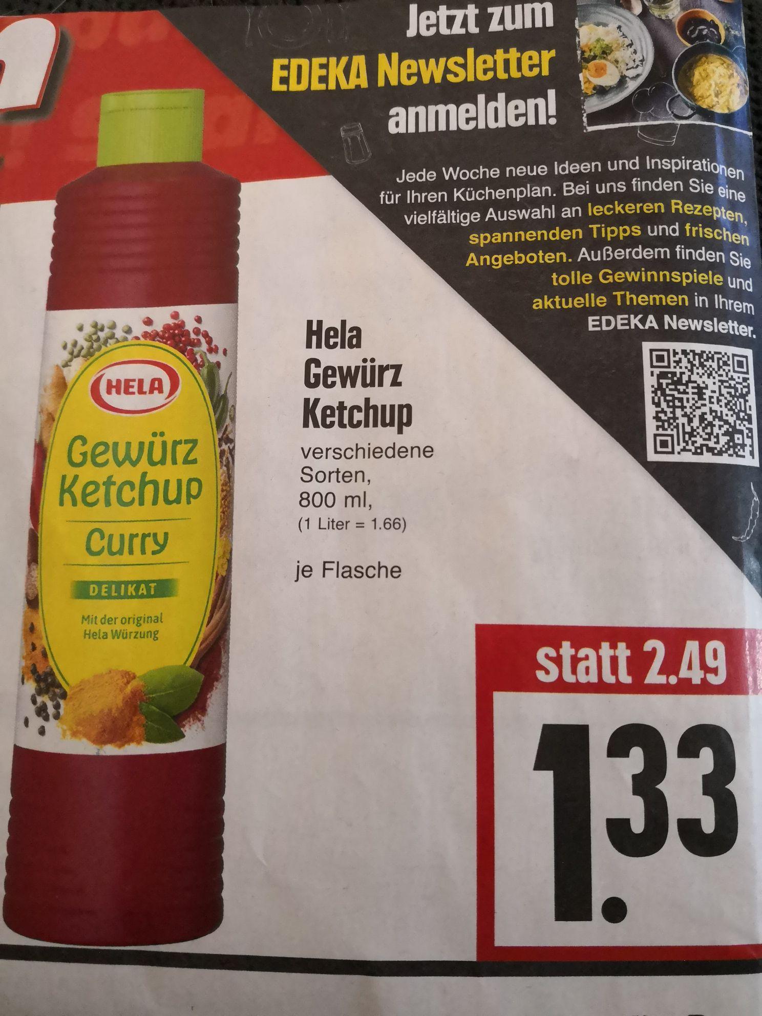 [EDEKA Hessenring] Aktion Sparen z.B Hela Curry Gewürz Ketchup für nur 1,33€, Trolli Glühwürmchen 0,50€