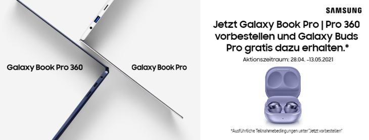 Samsung + Shoop 10% Cashback auf Galaxy Book Pro + Gratis Galaxy Buds Pro