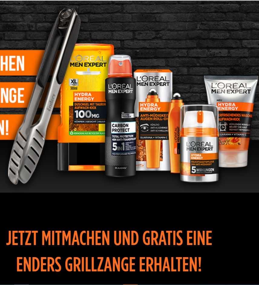 GRATIS Enders Grillzange beim Kauf von L'Oréal Men Expert Produkte im Wert von mind. 11€