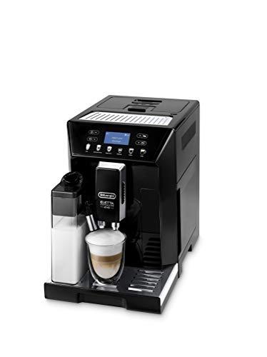 De'Longhi Eletta Evo ECAM 46.860.B Kaffeevollautomat mit Milchsystem, Cappuccino und Espresso Knopfdruck, LCD Display, Sensor-Touch-Tasten