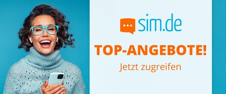 Sim.de & Shoop LTE All 5 GB für nur 5,99€ o. 12 GB für 11,99 + 10€ Cashback
