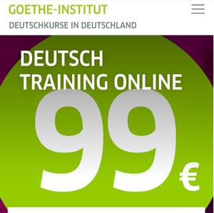 Goethe Online on-demand Deutsch Kurse A1-C1