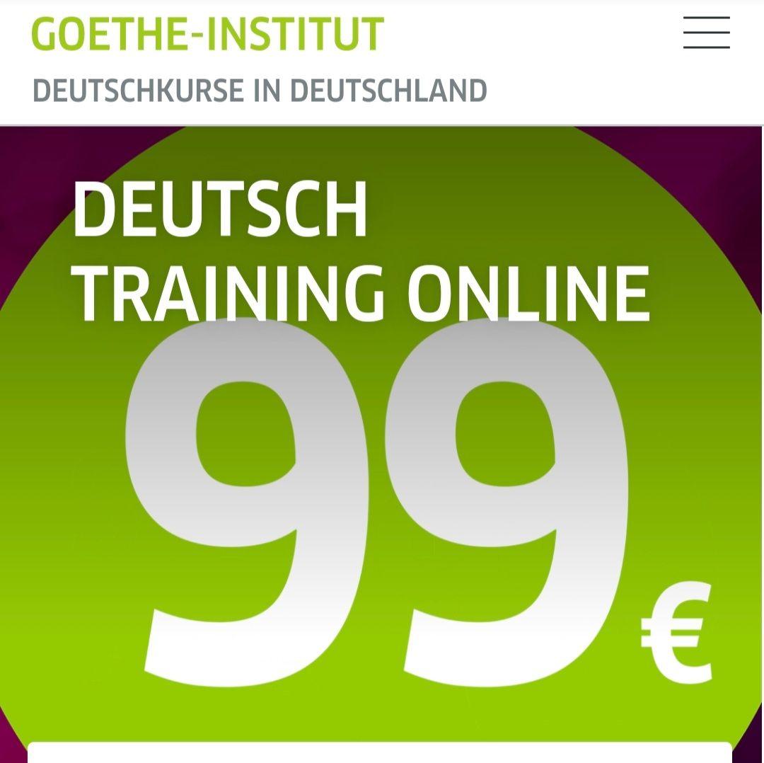 Goethe Online on-demand Deutsch Kurse A1-C1