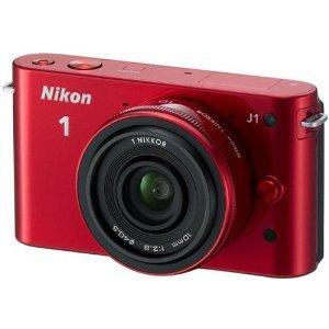 Nikon 1J1 in rot mit 10-30mm Objektiv (WHD) für 182,12